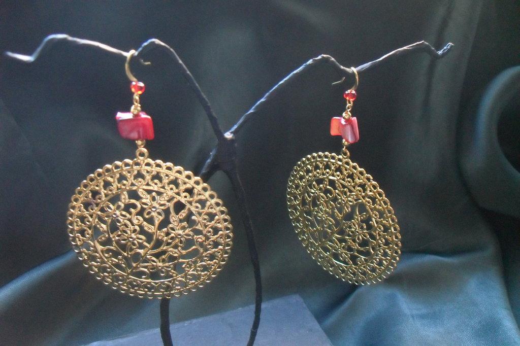 orecchini in filigrana