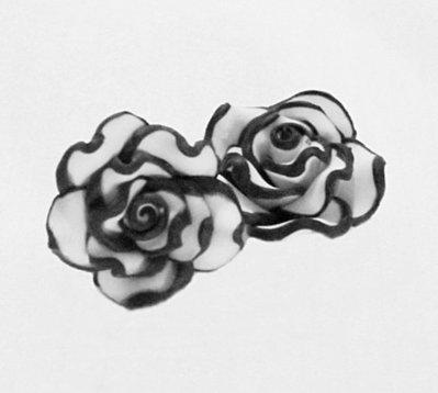 roselline bianche e nere