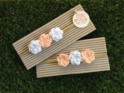 Fascia elastica a rose in tono beige, bianco e beige by Little Rose Handmade