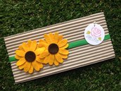 Fascia elastica a due girasoli by Little Rose Handmade