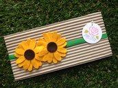 Fascia elastica a due girasoli by Little Rose Handmade