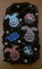 Cover decorata con Silicone nero per S3