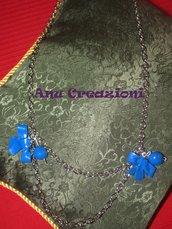 collana fiocco blu