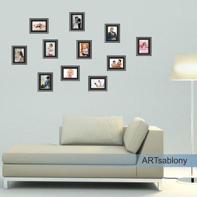 Adesivo per le pareti Cornici per foto 9x13cm (3648n)