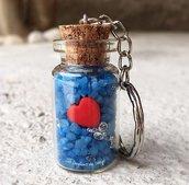 Bomboniera o segnaposto bottiglina con cuore