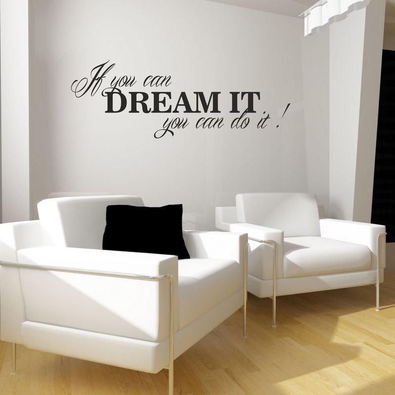 Adesivo per le pareti Dream it ... (3597n)