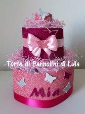 Torta di Pannolini Pampers Scintillante! - idea regalo, originale ed utile, per nascite, battesimi e c...