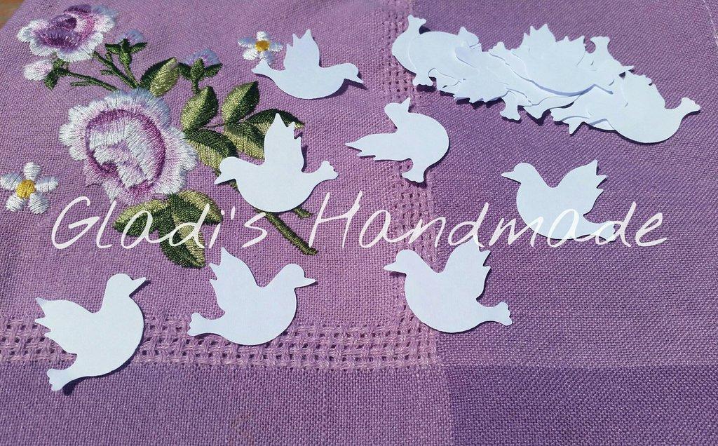 500 Coriandoli per matrimonio colombe bianche di carta grandi dimensioni (3,5cm)