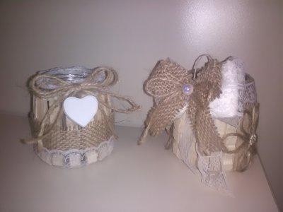 portacandela bomboniera segnaposto con candela e 5 confetti artigianale