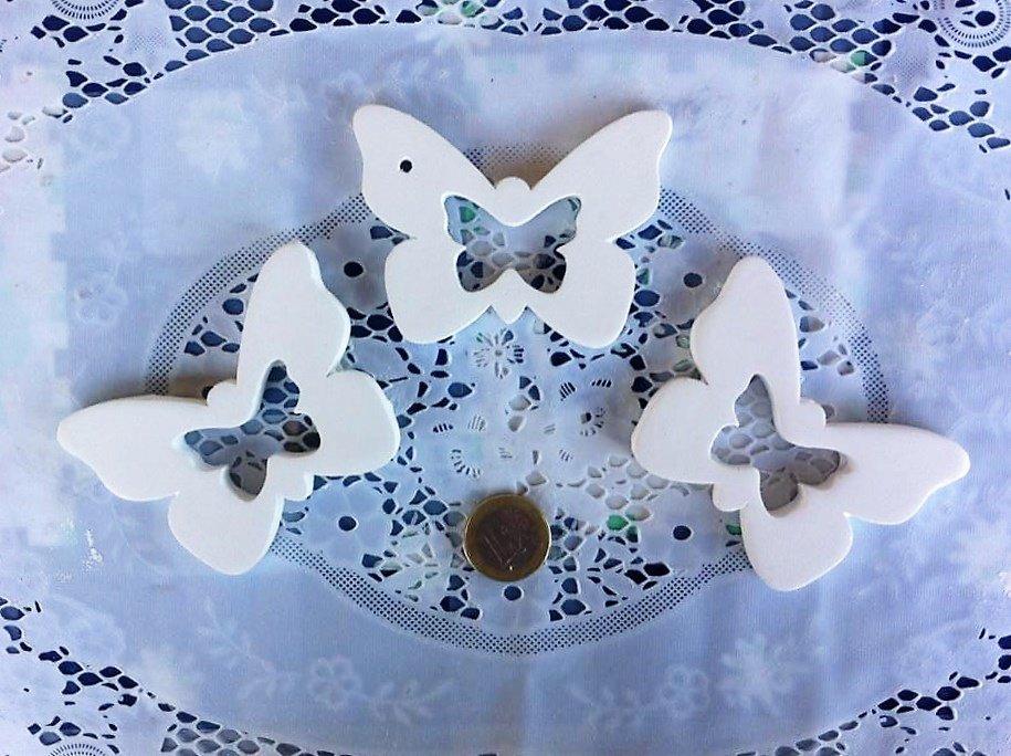 Gesso decorativo a forma di farfalla