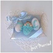 confettata nascita, battesimo, bimbo o bimba, confetti decorati