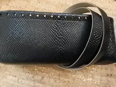 kit fondo e manici fondo ecopelle pitonato nero lucido