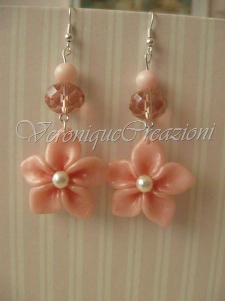Orecchini fiore e perle