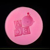 Stampo in silicone per fimo o colata in gesso linea nascita