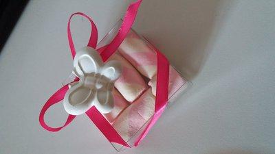 bomboniera gessetto profumato baby con marshmallow