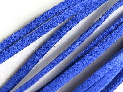 Cordino piatto alcantara blu elettrico FCO49