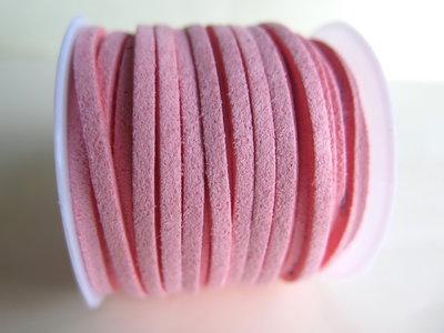 Cordino piatto alcantara rosa FCO51