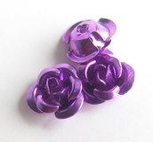 20 Applicazioni in alluminio a forma di rosa VIOLA PRL55