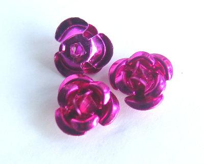20 Applicazioni in alluminio a forma di rosa CICLAMINO PRL59