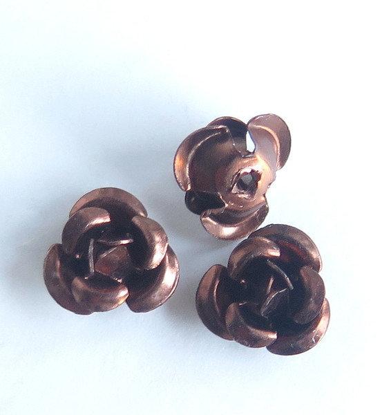 20 Applicazioni in alluminio a forma di rosa CAFFE' PRL62