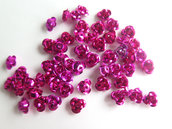 20 Applicazioni in alluminio a forma di rosa FUCSIA PRL64