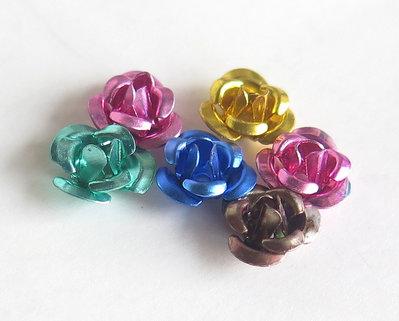 20 Applicazioni in alluminio a forma di rosa MIX PRL65