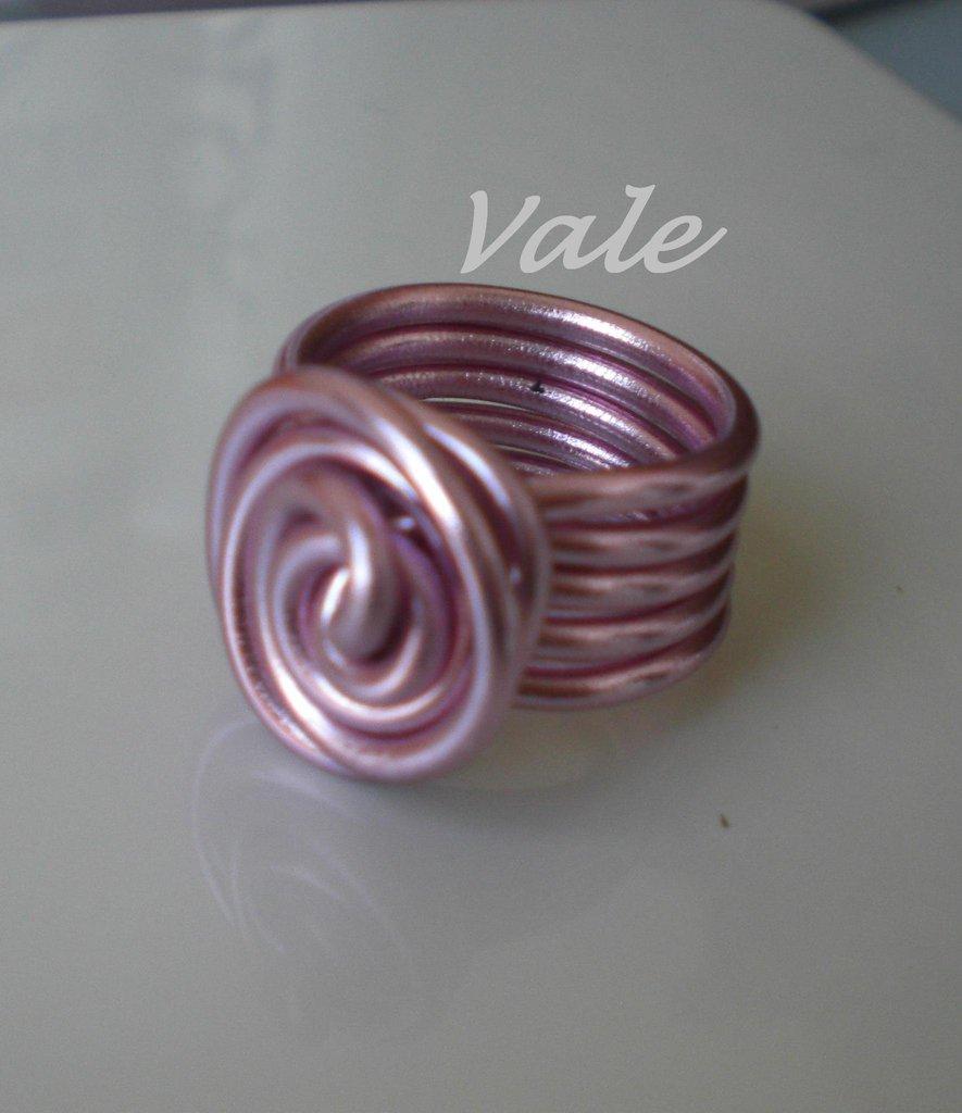 anello metallo rosa