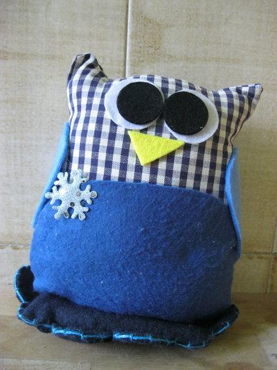 gufo fermaporta blu