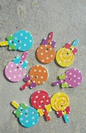10 bottoni lollipop lecca lecca