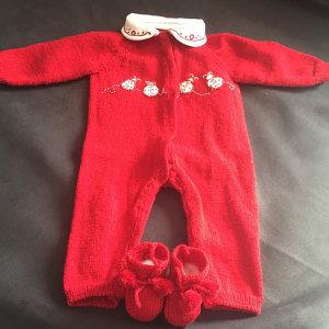 Tutina  con scarpine per neonato