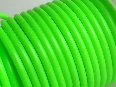 1 metro Cordino in rubber verde FCO59