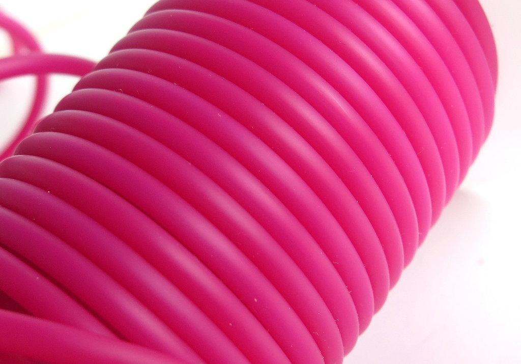 1 metro Cordino in rubber fucsia FCO60