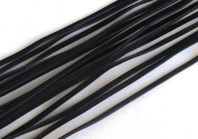 3 Cordini piatti nero FCO62