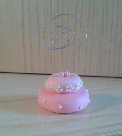 Segnaposto o bomboniera wedding cake fimo