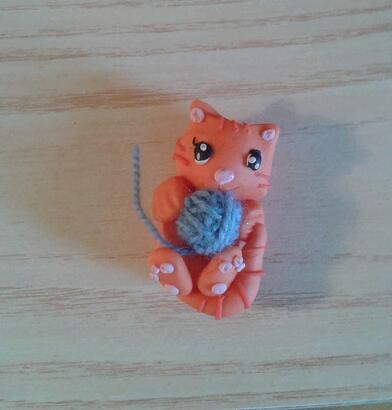 Bomboniera gattino fimo