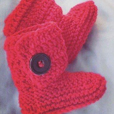 Stivaletti scarpette scarpine tipo Hugg neonato ROSSO