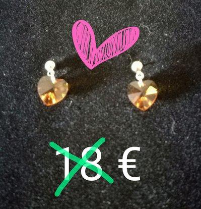 orecchini pendenti swarosvki cuore