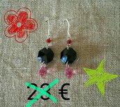 orecchini pendenti,con cristalli swarosvki