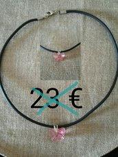 collana in caucciù con farfalla swarosvki