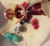 Orecchini pendenti con cipollotti in cristallo Swarovski color blu