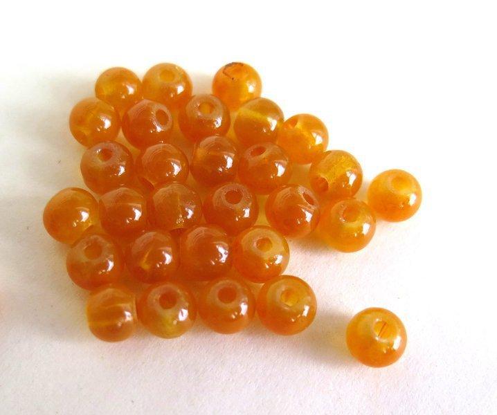 20 Perle di vetro YELLOW 6 mm PRL79