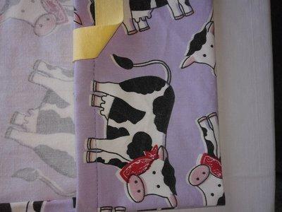 porta torta mucche con bandana