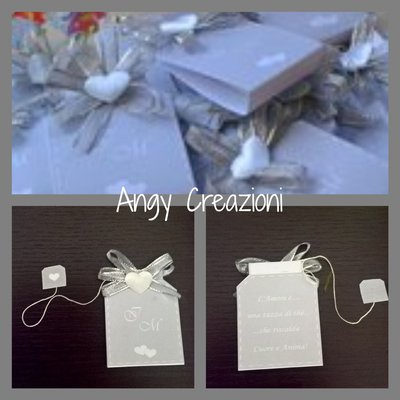 Segna posto matrimonio  bustina  del  tè  e  cartoncino
