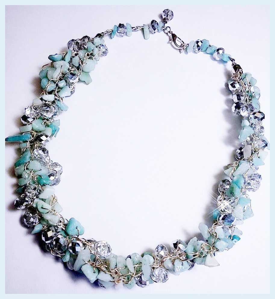 Collier azzurro e argento