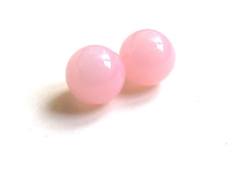20 Perle di vetro ROSA 8 mm PRL106
