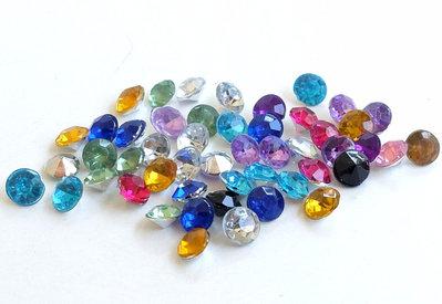 30 Perle di vetro opaco azzurro  diam 6 mm foro 1.3 mm PRL116