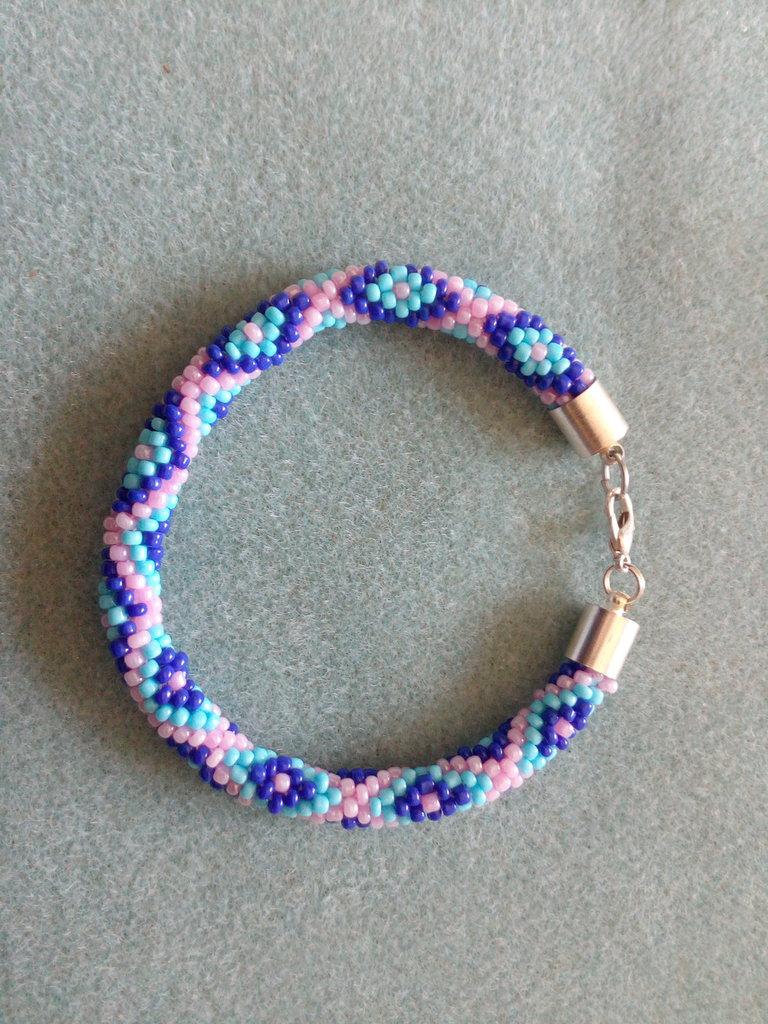 Braccialetto blu azzurro rosa