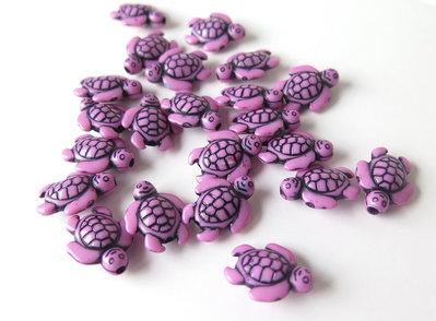 6 Perle ACRILICO Tartaruga ROSA PRL130