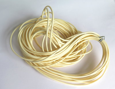Cordino cerato  beige 2mm  FCO84
