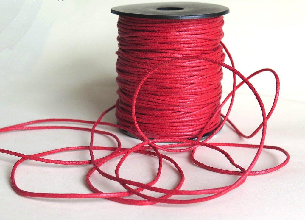 Cordino cerato  rosso 1.5 mm  FCO86